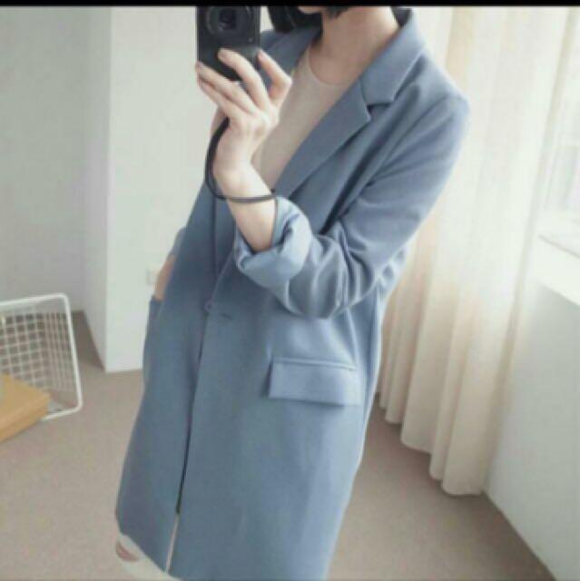 ✨正韓✨ 長版西裝外套