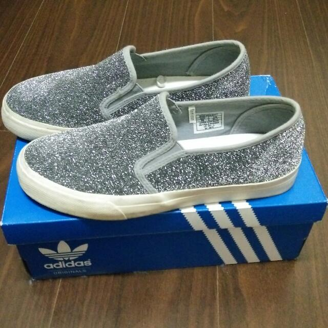(正韓)銀灰色 閃亮懶人鞋
