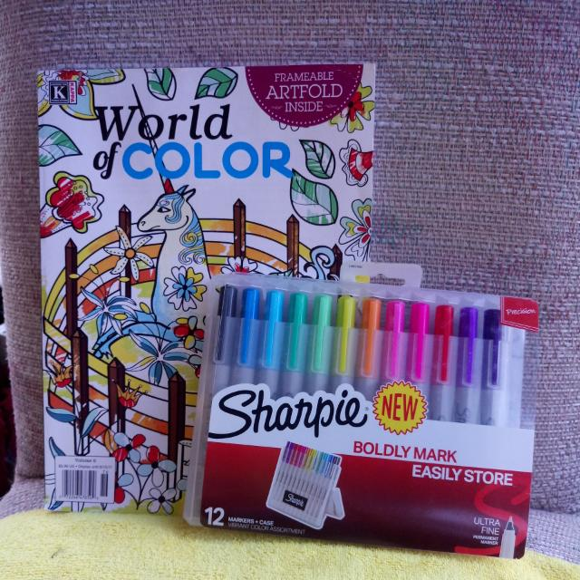 Adult Coloring Book Pens Design Craft On Carousell