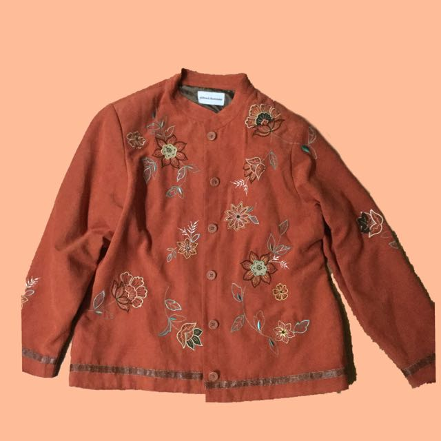 Alfred Dunner Embroidered Vest