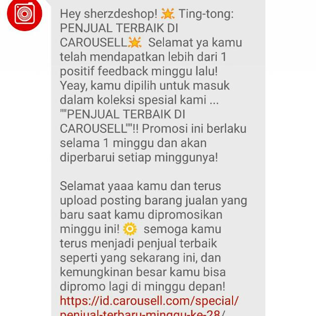 Appreciation From Carousell
