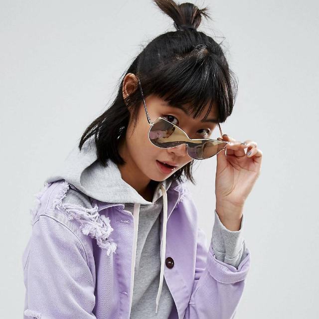 Asos Oversized Kitten Visor Sunglasses