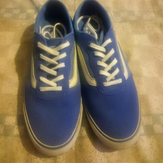 Auth Vans Low Leather And Canvas