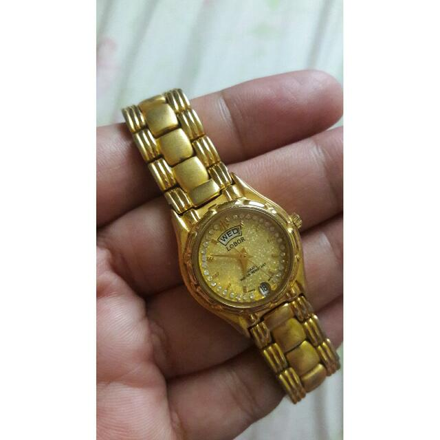 Authentic Lobor Watch 18k Gold Plated