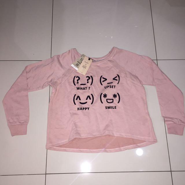 Bershka Emoji Pink Sweater