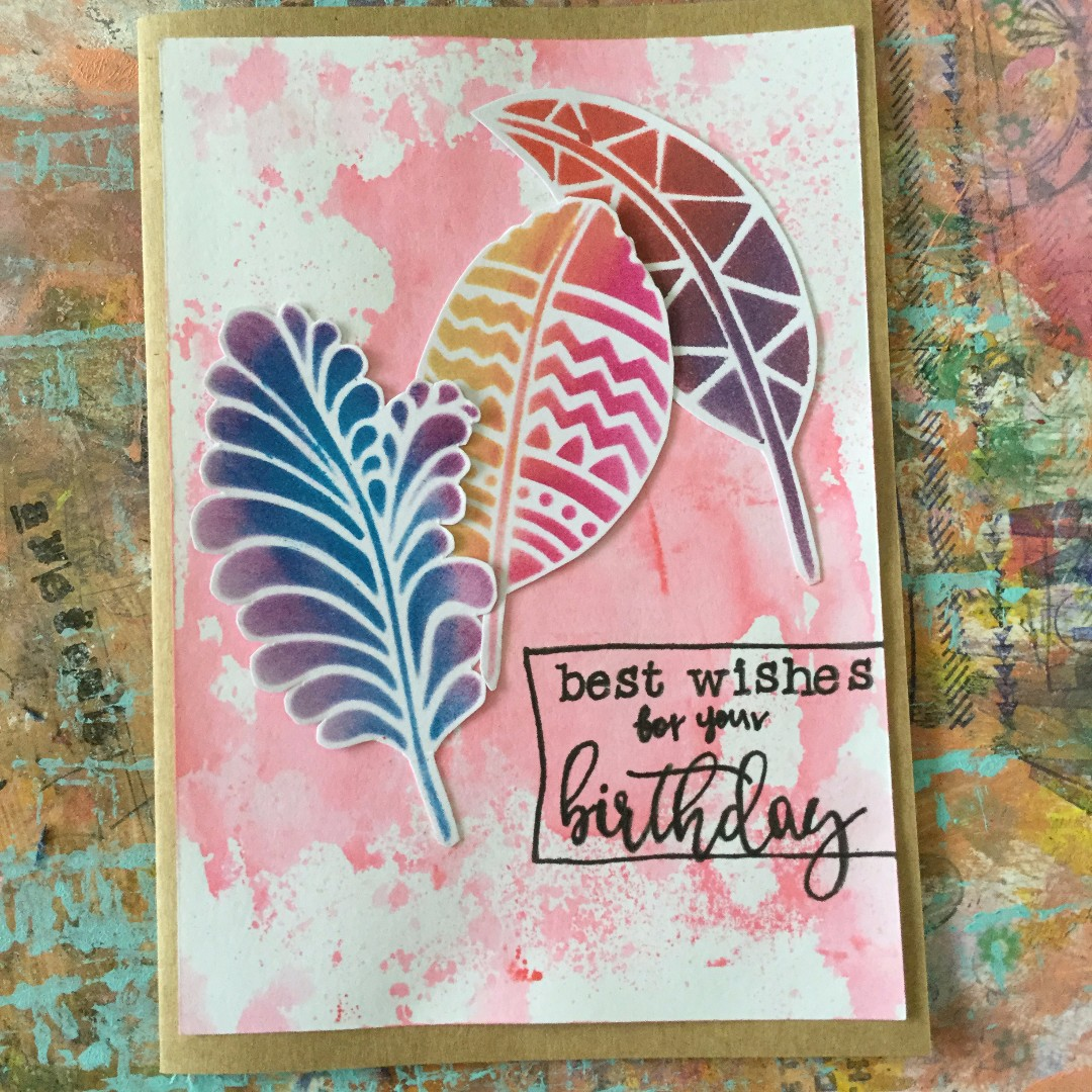 """""""Best wishes for your birthday"""" - handmade birthday card"""