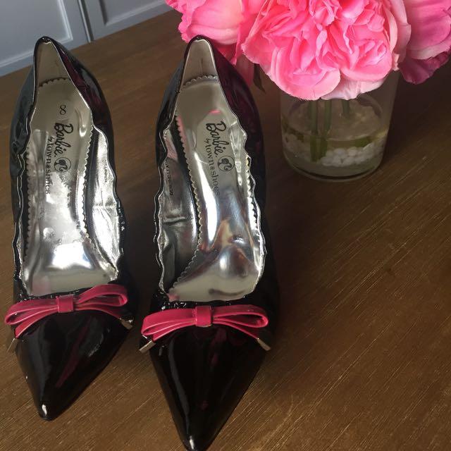 Black Patent Barbie Heels Size 38