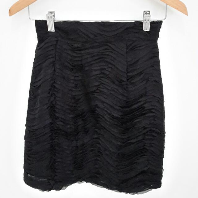 Black Petals Skirt