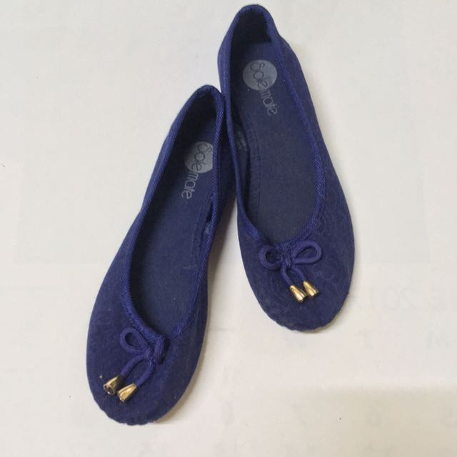REPRICED Blue Doll Shoes