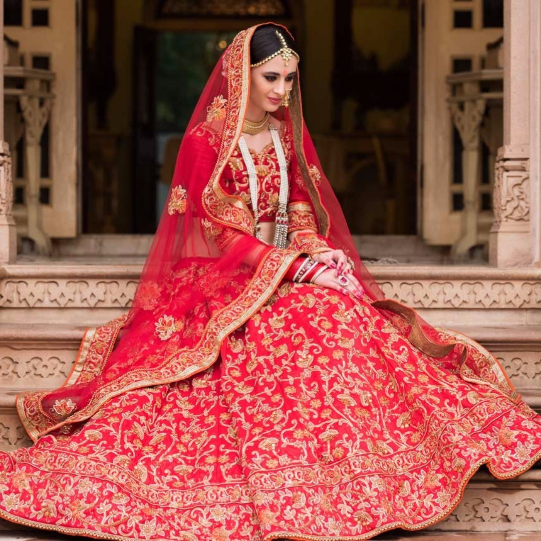Bridal Lengha, Women's Fashion, Clothes, Others On Carousell