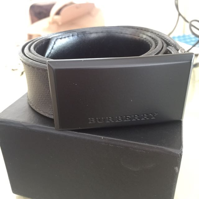 Burberry Check Leather Belt 100% ORI