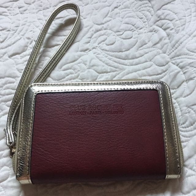 Burgundy & Gold Wallet
