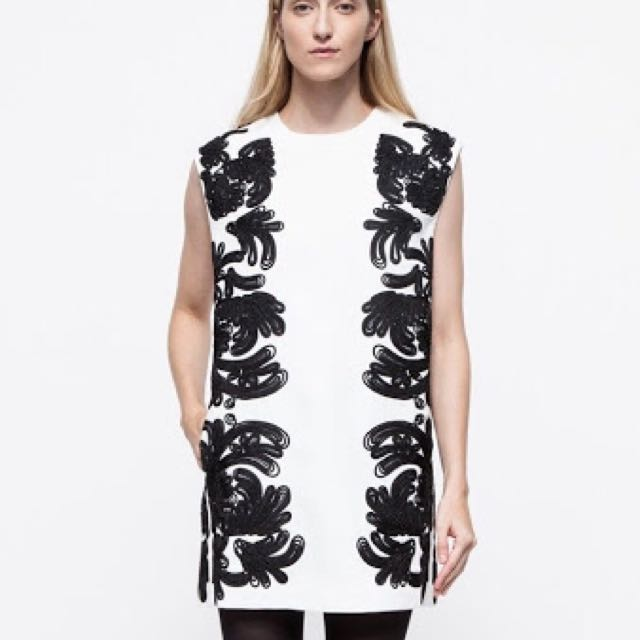 Cameo Embroidered Dress