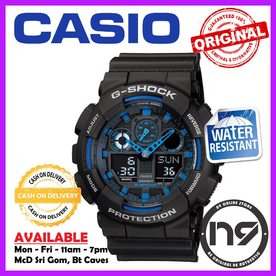 Casio G Shock Ga 100 1a2 Sports Watches Analog Digital Men Watch Jam Tangan 100a 9adr Photo