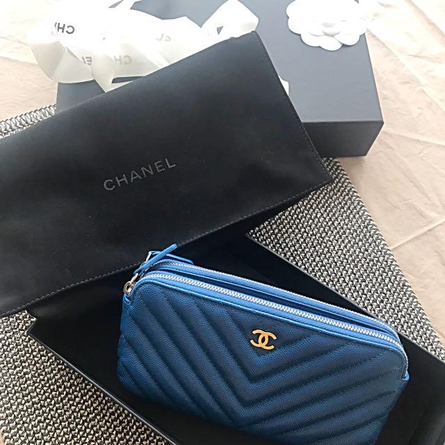 Chanel WOC 絕美寶藍荔枝山形紋