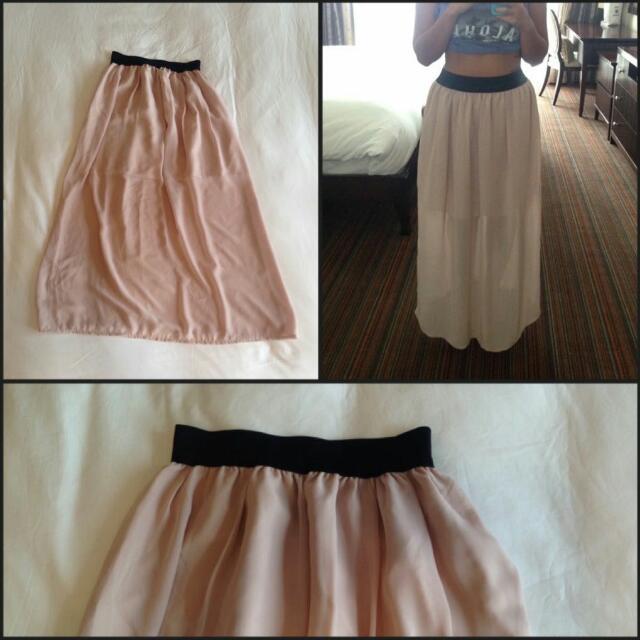 Chiffon Full Maxi Skirt