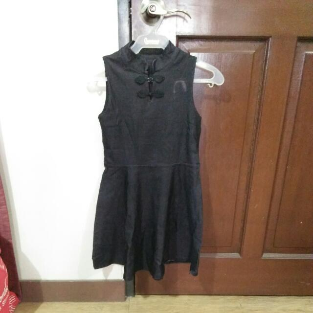 Chinese Collar Gray Dress