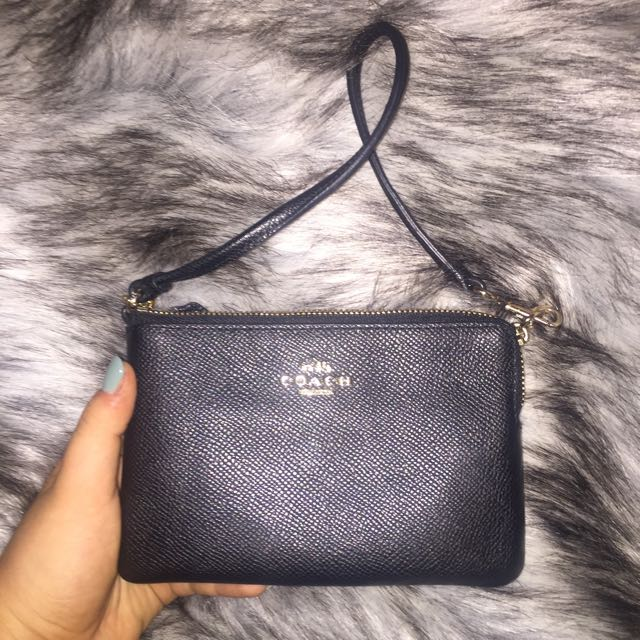 Coach Black Leather Clutch/Wallet