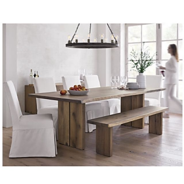 Crate Barrel White Oak 77 Table Furniture Tables