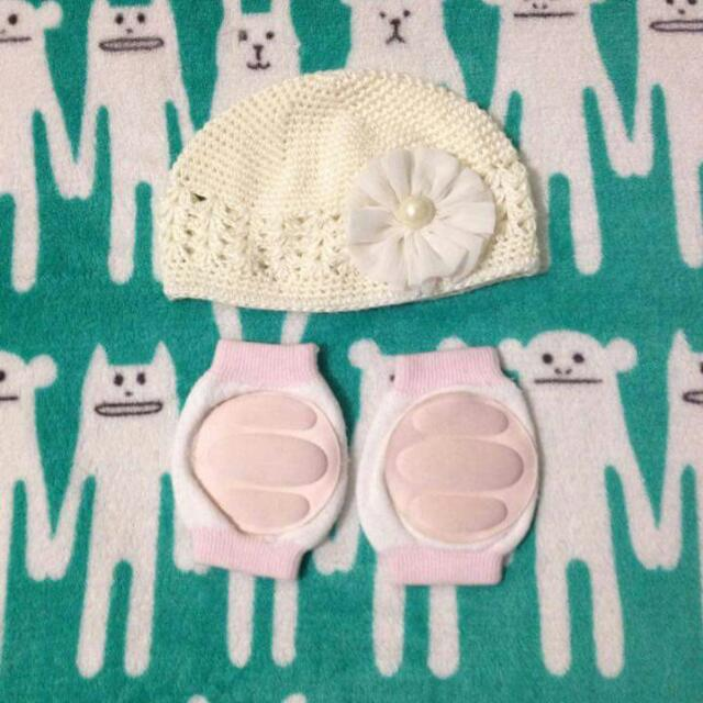Crochet Bonnet & Knee Pad