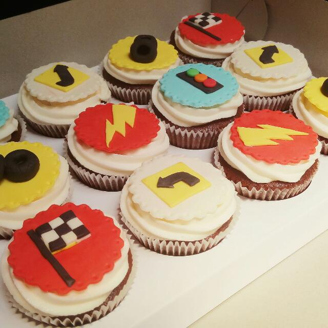 Customized Cars Themed Cupcakes