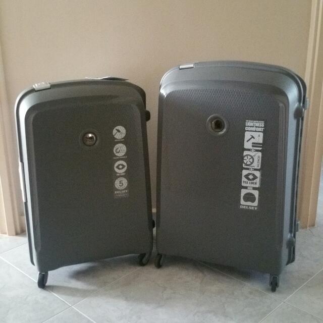 Delsey Paris Grey Hard Case Luggage (5y Warranty)