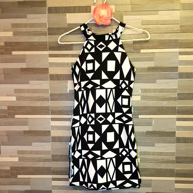 Terno Dress Coordinates Black And White