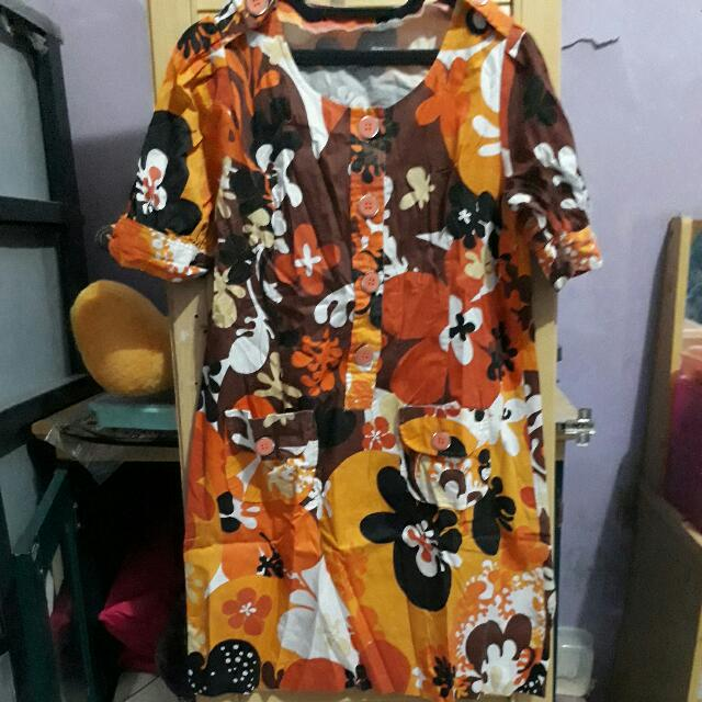 Dress Flower Orange