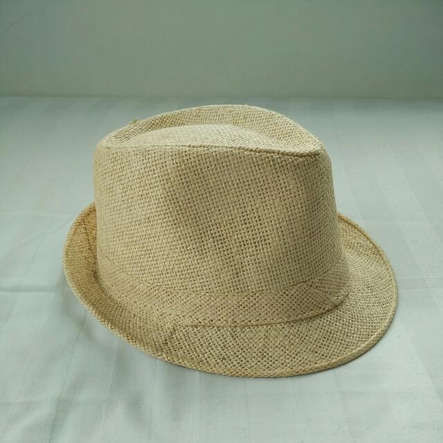 Fedora Straw Hat / Topi Jerami