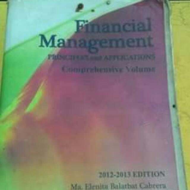 Financial Management 2012-2013 edition