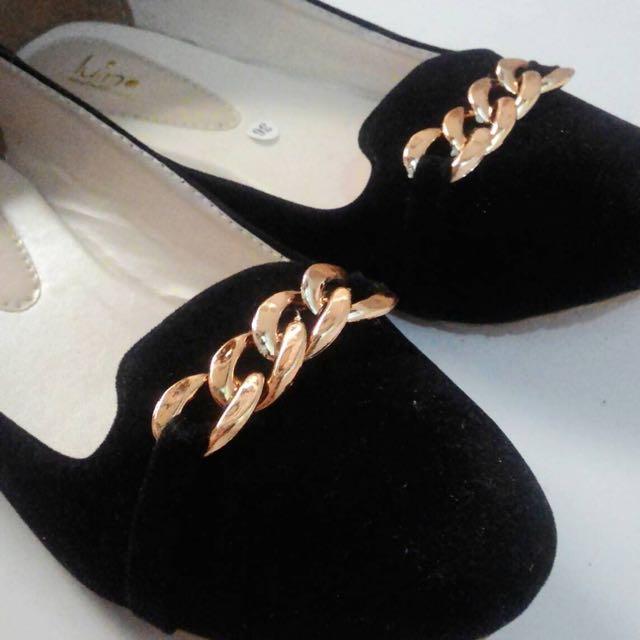 flat shoes hitam (NEW)