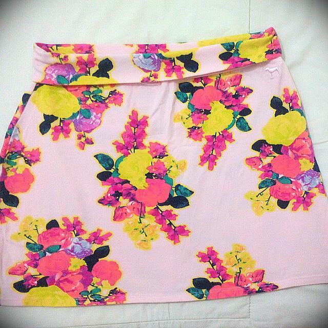 Flowery Pink Victoria Secret Mini Skirt