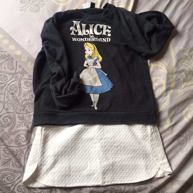 Forever21 Alice In Wonderland Sweater