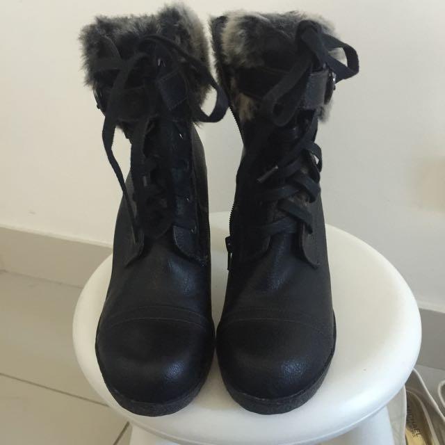 Fur Boot Heels