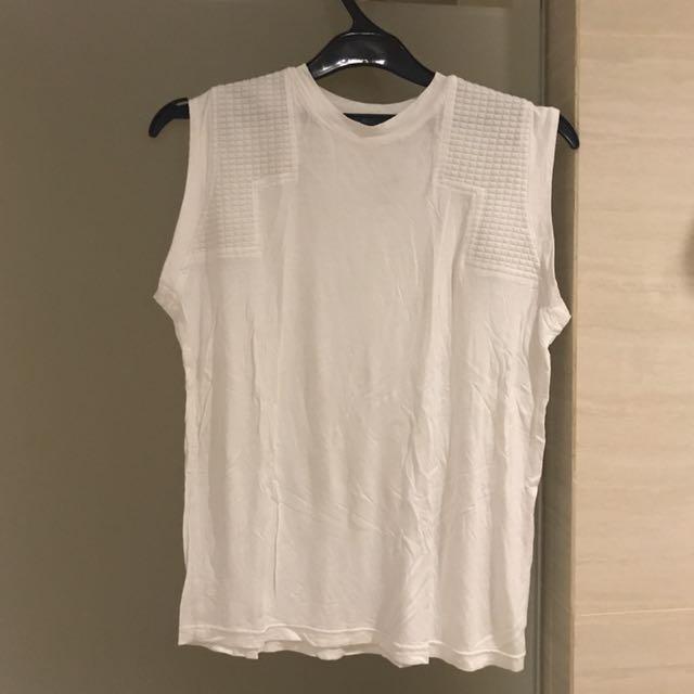 Gaudi White Sleeveless Shirt