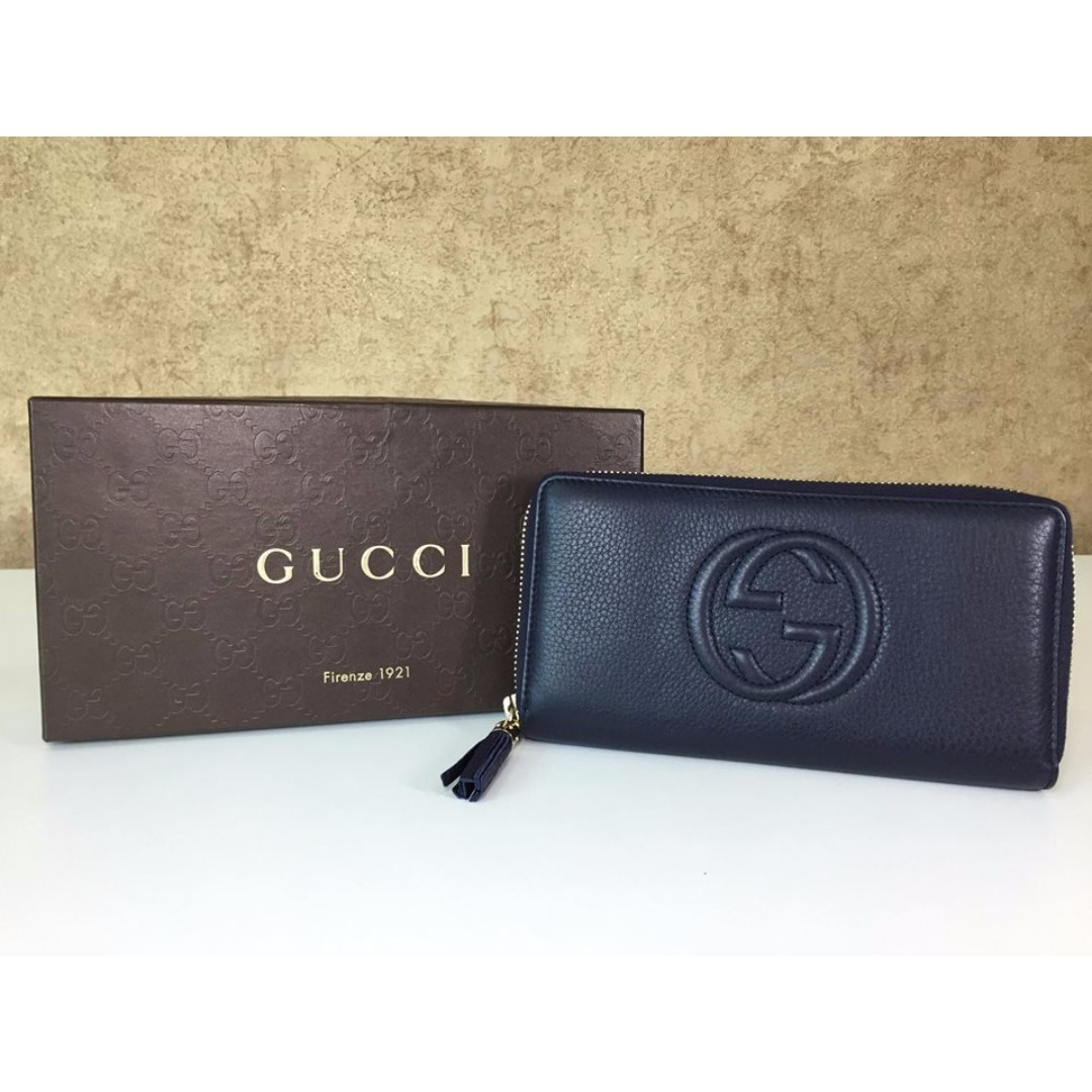 0a80da39271 GUCCI 308004 SOHO LEATHER ZIP AROUND WALLET