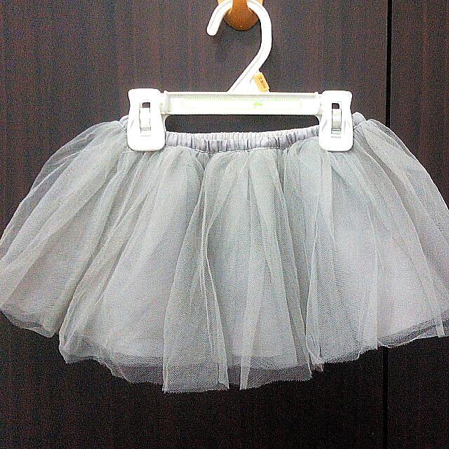 Gymboree Silver Tutu Skirt