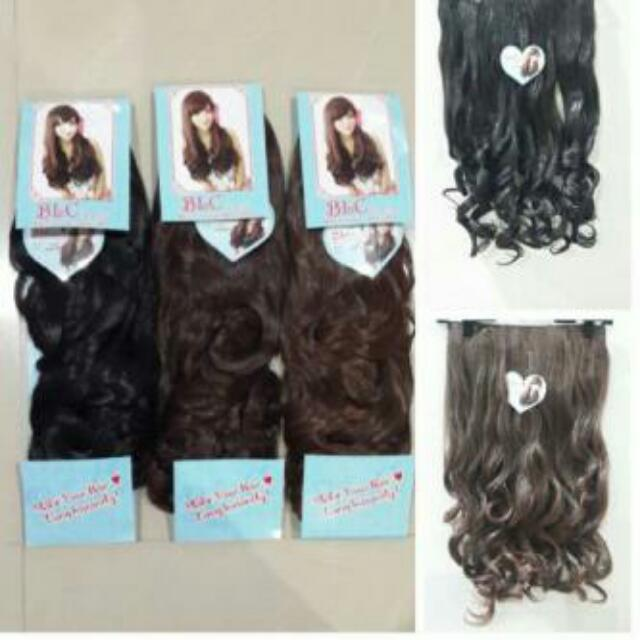 Hairclip Lurus Dan Curly New