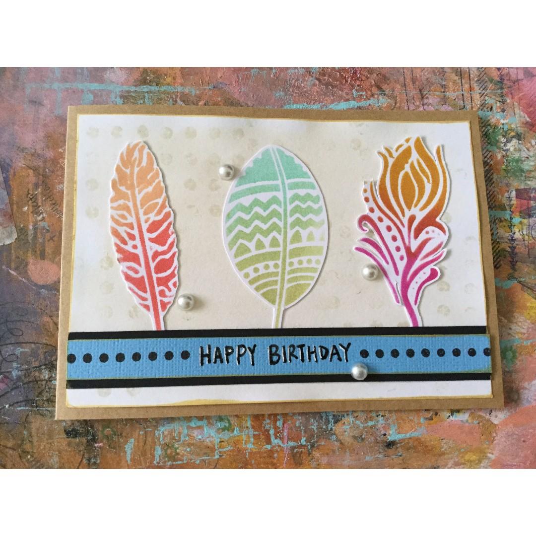 """Happy Birthday"" - handmade birthday card"