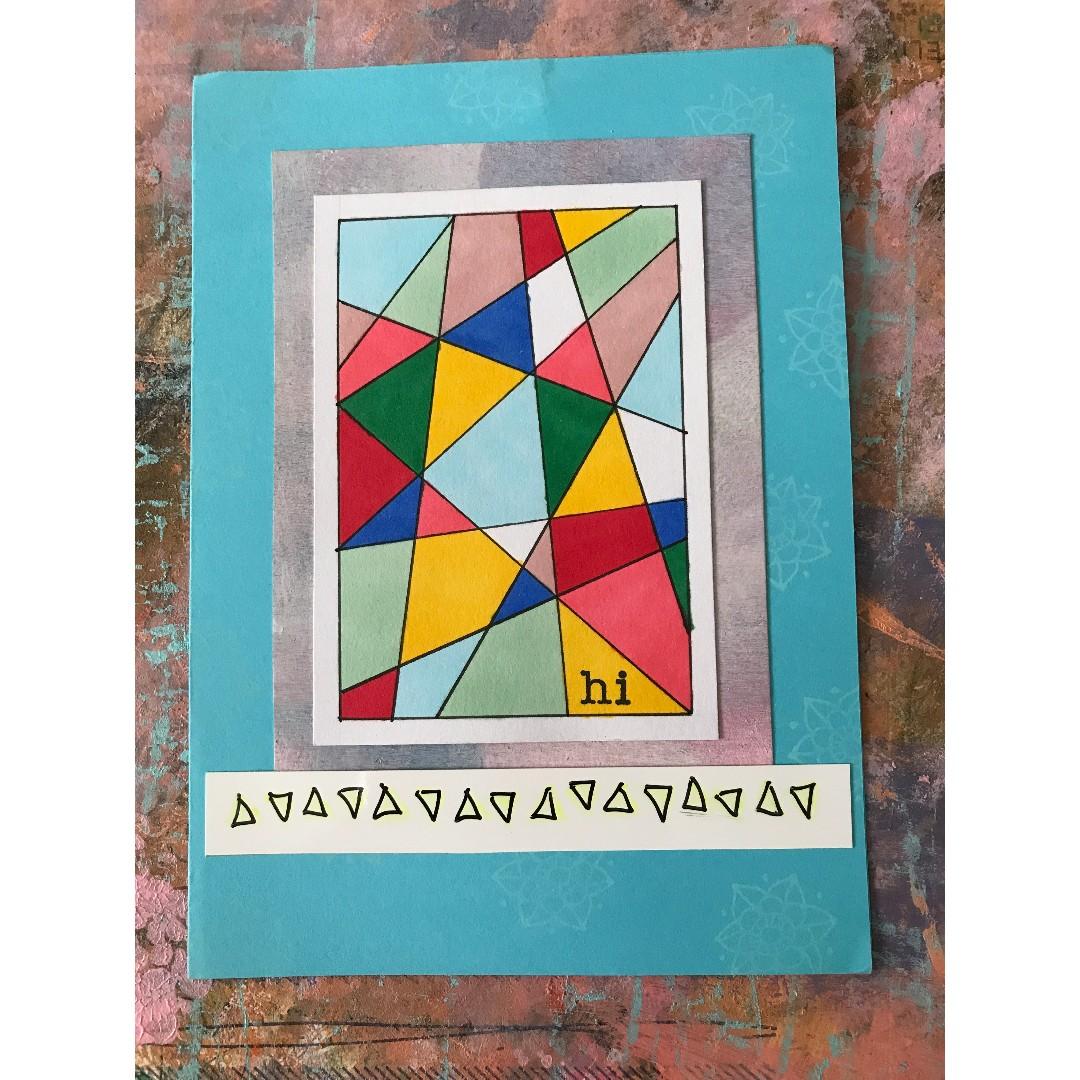 """Hi"" - handmade card"