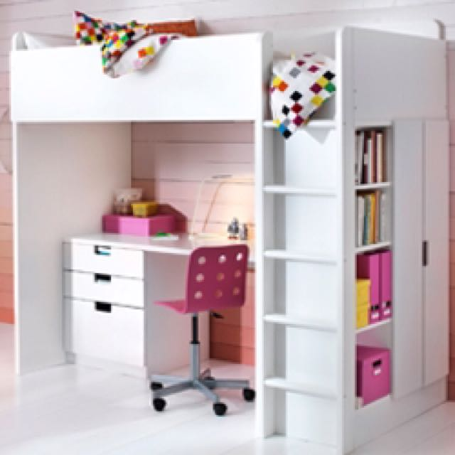 Ikea Bunk Bed With Study Table And Wardrobe Furniture Beds