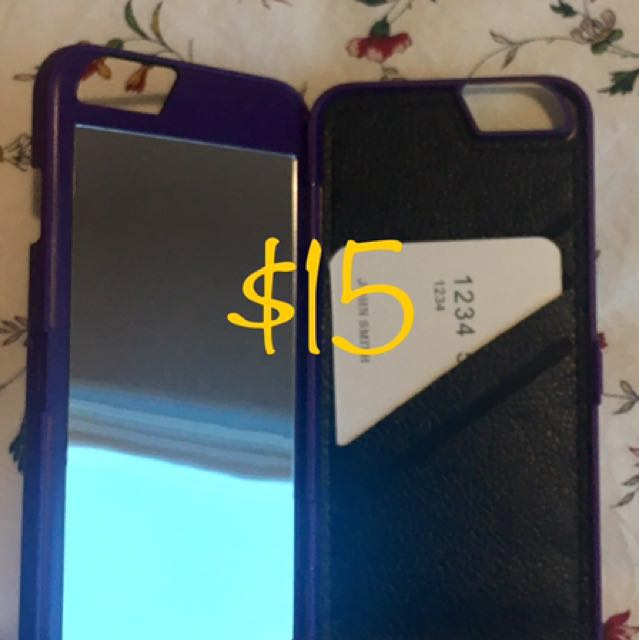 iPhone 6 Case With Mirror & Cards Slot