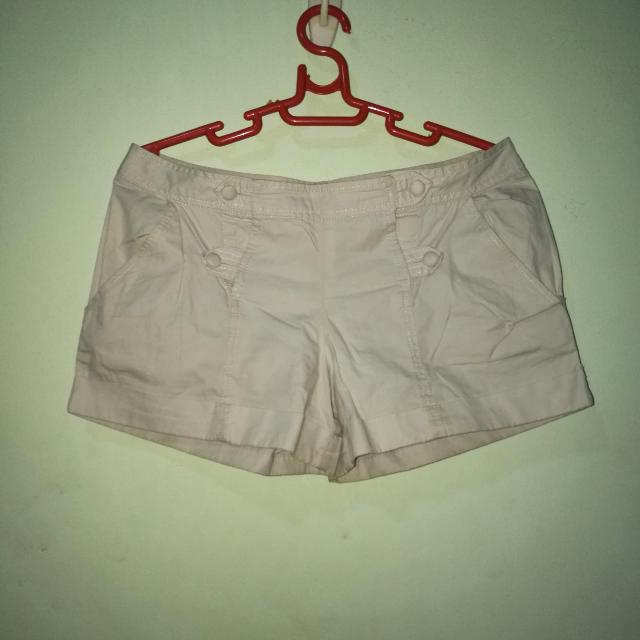 Just G Beige Casual Shorts