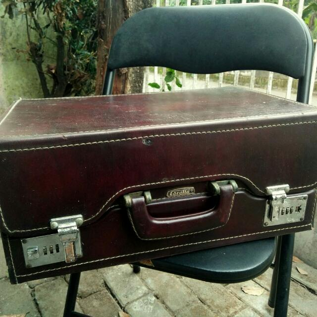 Koper Kotak Jadul Vintage Merk Corolla Bahan Vinyl