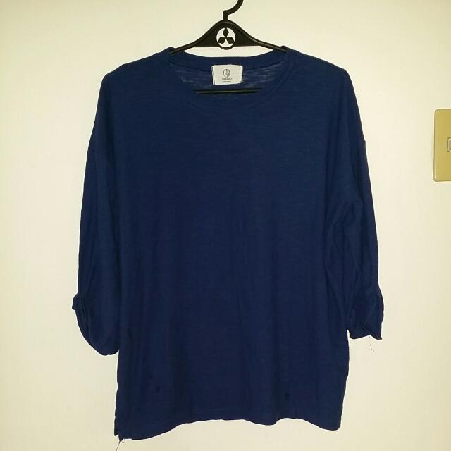 Korea Navy Blue Sweater