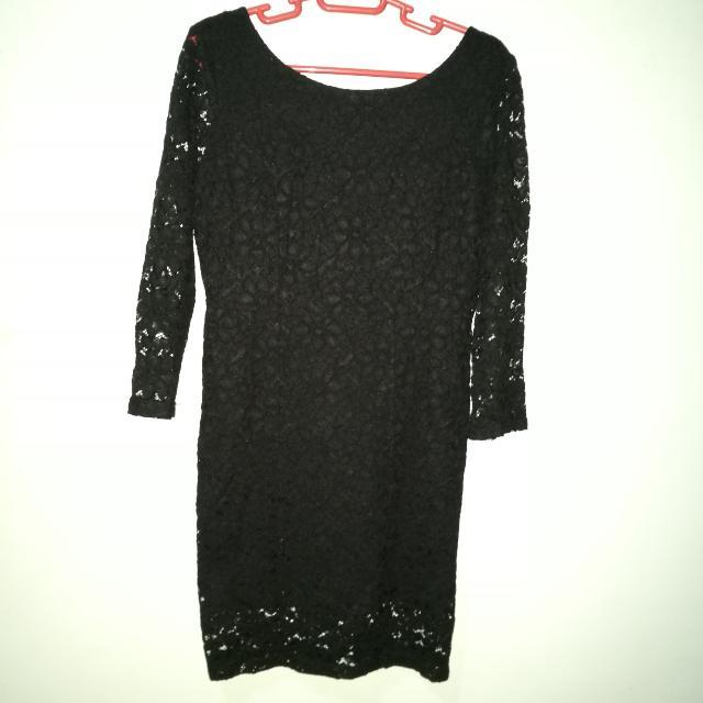 Lace Dress Scoop Back