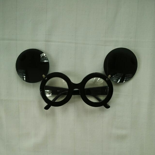 Lady Gaga Paparazzi Sunglasses Black / Kacamata Hitam Mickey Mouse Jeremy Scott