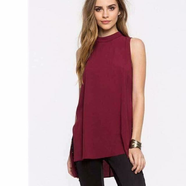 Long Tops Maroon