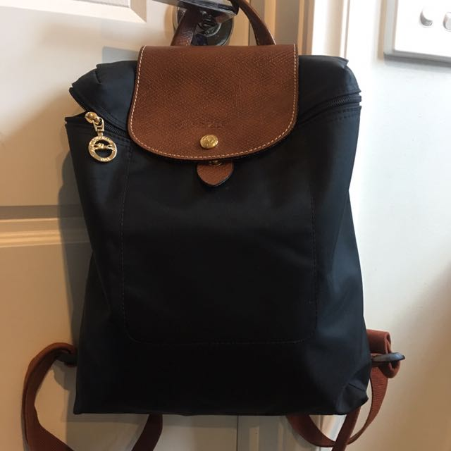 75752497f2ae Longchamp Le Pliage Backpack Black