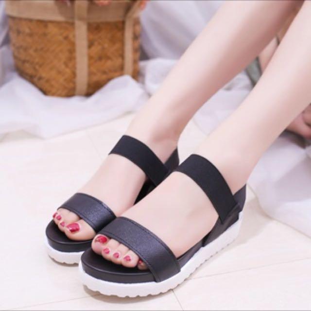 5679f3ab9a5 Lucyever Summer Women Gladiator Sandals Open toe Flats Platform Flip ...